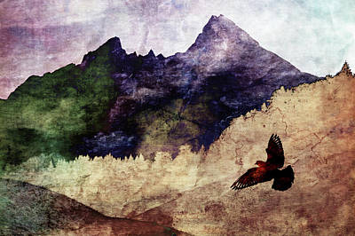 Susann Serfezi Painting - Fly High by AugenWerk Susann Serfezi