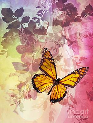Digital Art - Fly High Butterfly by Maria Urso