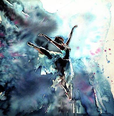 Ballerina Painting - Fly In Dreams by Kovacs Anna Brigitta