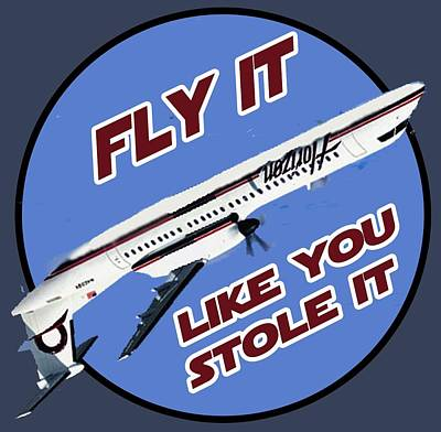 Digital Art - Fly It Like You Stole It by Walter Chamberlain