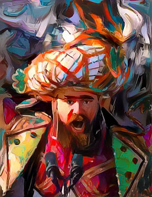 Painting - Fly Kelce Fly by Paul Van Scott