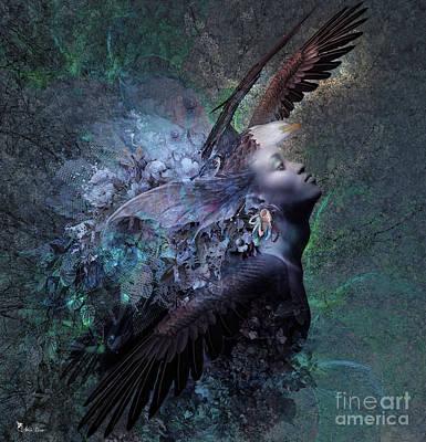 Digital Art - Fly Like An Eagle  by Ali Oppy