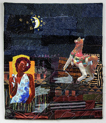 Tapestry - Textile - Fly Me To The Moon by Martha Ressler