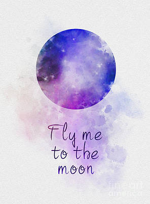 Mixed Media - Fly Me To The Moon by Rebecca Jenkins