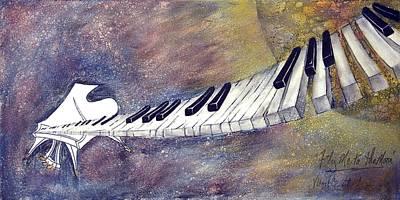 Virgil C Stephens Painting - Fly Me To The Moon by Virgil Stephens