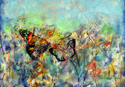 Mixed Media - Fly Me Two The Moon by Gail Butters Cohen
