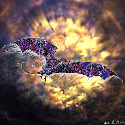 Digital Art - Fly The Friendly Skies by Iowan Stone-Flowers