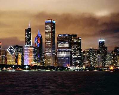 Chicago Skyline Photograph - Cubs World Series Chicago Skyline by Horsch Gallery