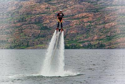 Jetpack Photograph - Flyboarding by Kathy Bassett