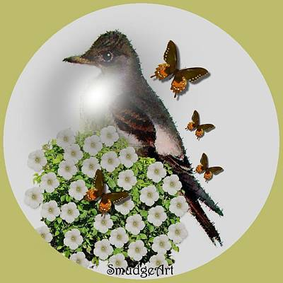 Flycatcher Digital Art - Flycatcher by Madeline  Allen - SmudgeArt