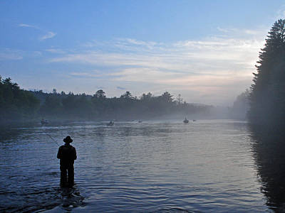 Photograph - Flyfishing In Maine by Glenn Gordon