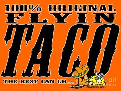 Flyin Taco 005 Art Print