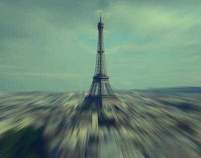 Flying Above Paris Art Print