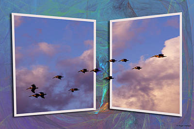 Flying Across Art Print by Roger Wedegis
