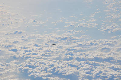 Art Print featuring the photograph Flying Among The Clouds by Bill Cannon