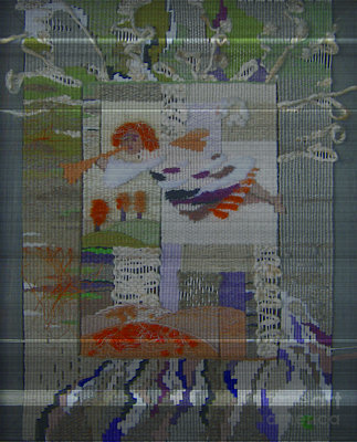 Fantasy Tapestries - Textiles Tapestry - Textile - Flying Angel    by Olena Sydoruk