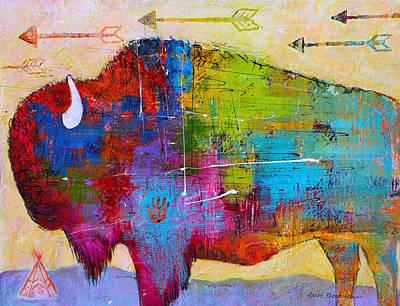 Arrow Painting - Flying Arrows by Caren Goodrich