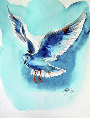 Painting - Flying Bird by Kovacs Anna Brigitta