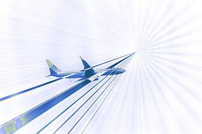 Beam Digital Art - Flying Blind 2 by Bill Cannon