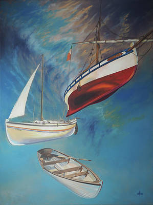 Painting - Flying Boats by David Bader