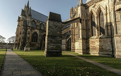 Photograph - Flying Buttress Of Lincoln Cathedral A by Jacek Wojnarowski