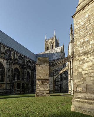 Photograph - Flying Buttress Of Lincoln Cathedral B by Jacek Wojnarowski