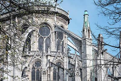 Flying Buttresses Notre Dame Paris Art Print by Joan Carroll