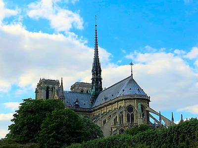 Photograph - Flying Buttresses Of Notre Dame by Betty Buller Whitehead