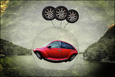 Digital Art - Flying Car by Constance Lowery