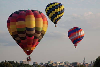 Colorful Photograph - Flying Colors Over The City by Tatiana Travelways