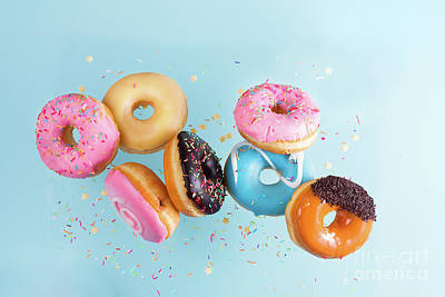 Photograph - Flying Doughnuts by Anastasy Yarmolovich
