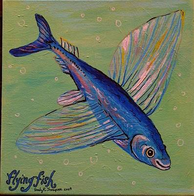 Flying Fish Art Print by Emily Reynolds Thompson
