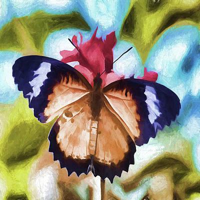 Digital Art - Flying Flower by OLena Art Brand