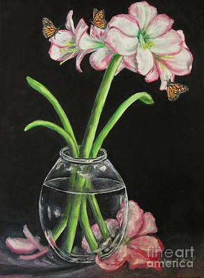 Houseplants Drawing - Flying Flowers by Stephanie  Skeem