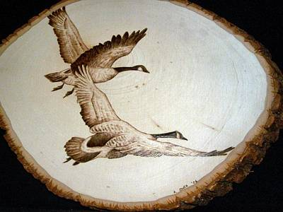 Pyrography - Flying Geese by Adam Owen
