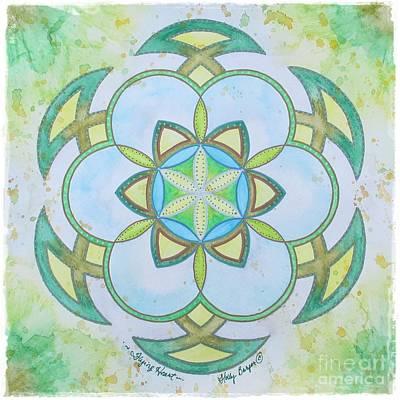 Painting - Flying Heart Mandala by Holly Burger