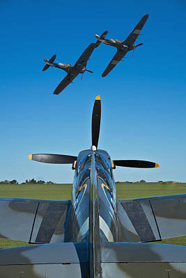Spitfire Photograph - Flying Heroes by Scott Carruthers