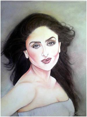 Kareena Kapoor Painting - Flying High - 2 by Rafath Khan