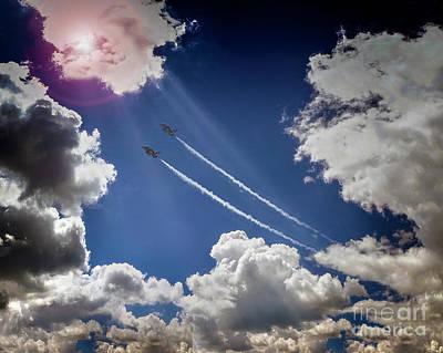 Music Figurative Potraits - Flying High by Edmund Nagele