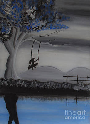Girl On A Swing Painting - Flying High On Swing by Nayna Tuli Fineart
