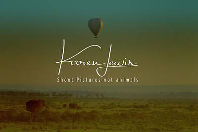 Photograph - Flying High On The Masai Mara by Karen Lewis