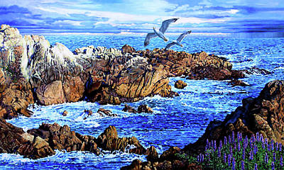 Painting - Flying High Over California by John Lautermilch