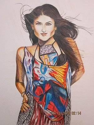 Kareena Kapoor Drawing - Flying High by Rafath Khan