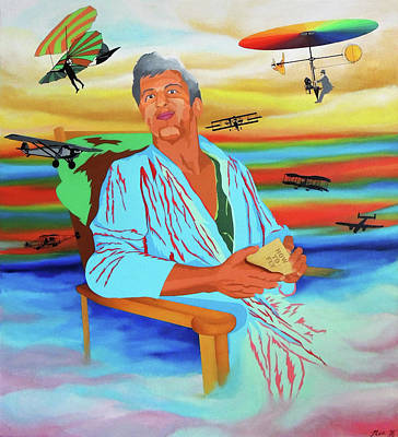 Painting - Flying High With Allen by Nancy Griswold