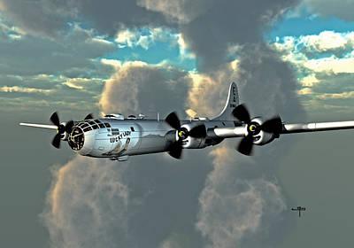 B-29 Digital Art - Flying Home by Steven Palmer