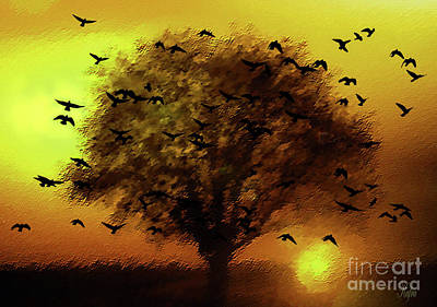 Flying Home To Roost Art Print