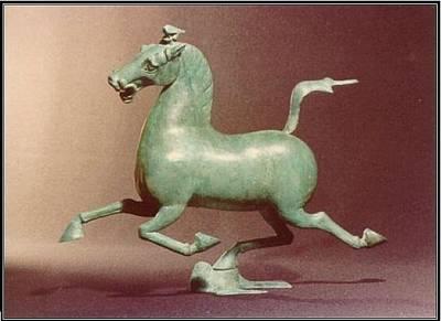 Flying Horse Of Kansu Sculpture - Flying Horse Of Gansu    by Allen Mautz