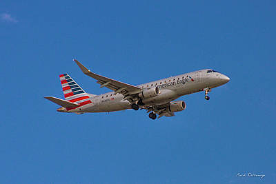 Photograph - Flying In American Eagle Embraer 175 N426yx by Reid Callaway