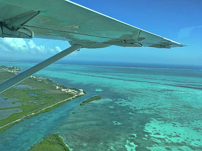 Photograph - Flying Into Ambergris Caye, Belize by Waterdancer