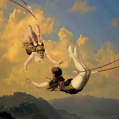Digital Art - Flying by Jeff Burgess